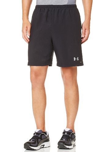 Under Armor Men's UA Escape 7 'Solid Run Shorts Medium Black