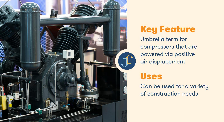 Компрессоры смещения относятся к компрессорам, которые приводятся в действие посредством принудительного вытеснения воздуха.